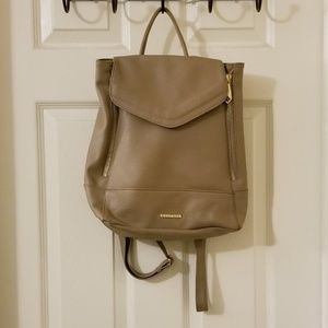 Rampage Tan Faux Leather Backpack
